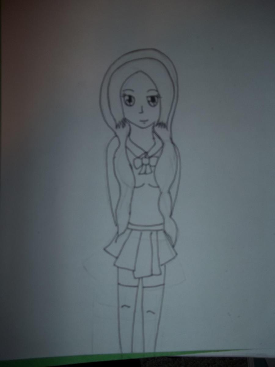Inoue Orihime Line Art by AlyHisanaKurosaki16