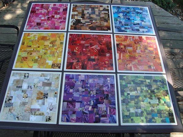 Rainbow Porch Table
