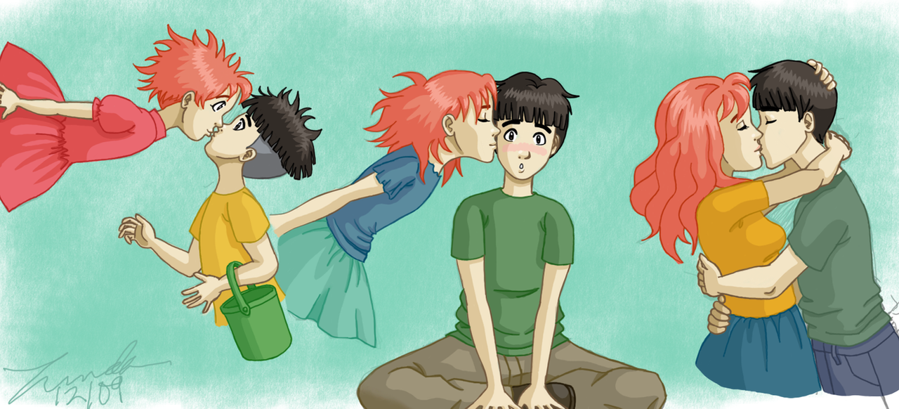 Ponyo - Three Kisses by LindaJV on DeviantArt