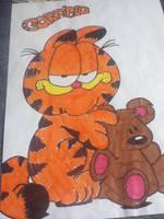 Garfield by purplecherrys
