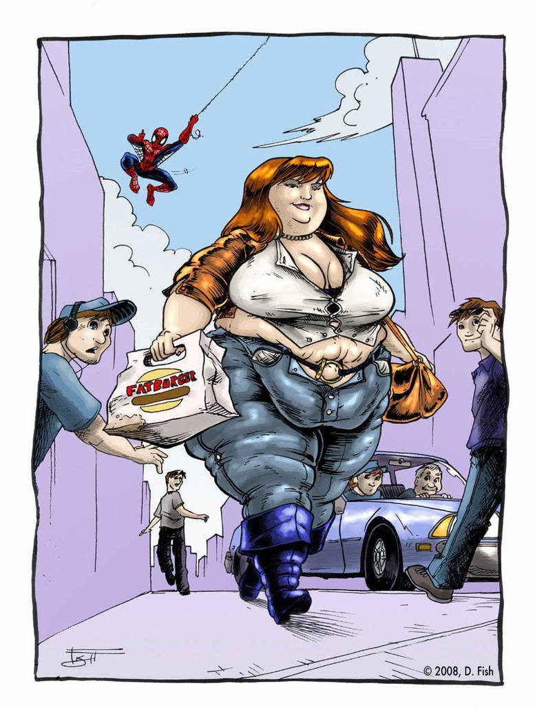 fat Mary jane watson  by TauntSeven1