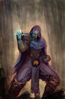 Jace Beleren as a ninja by qione