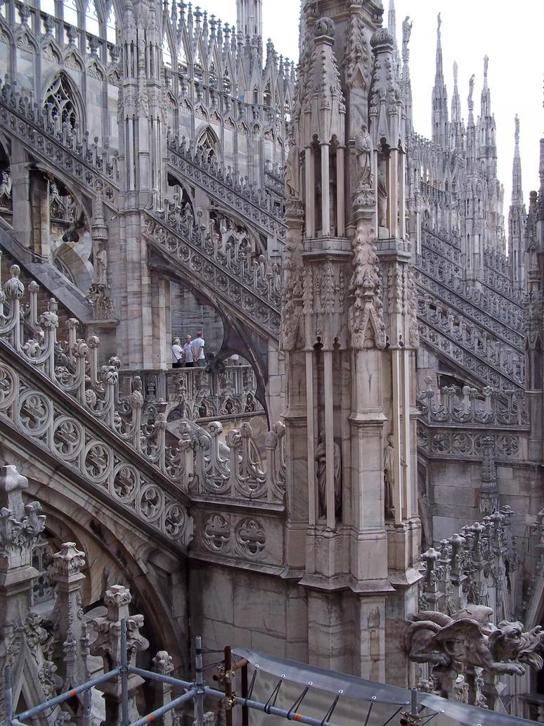 Milano Duomo Detail by Sabbelbina