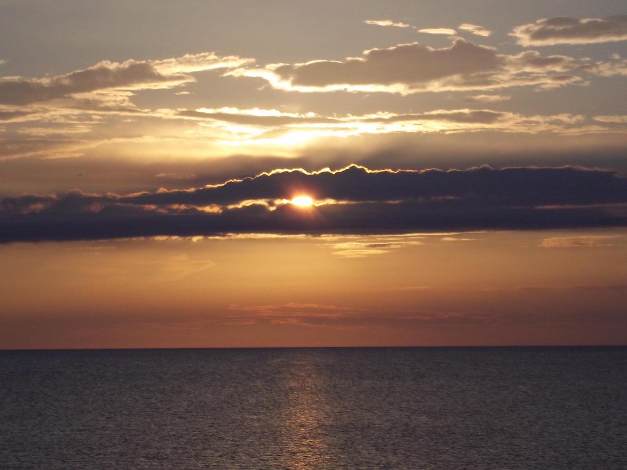 Sunset at the Baltic Sea 2 by Sabbelbina