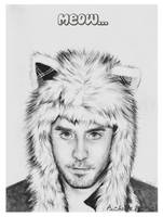 Jared Leto Cat by psichodelicfruit