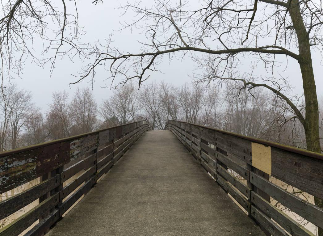 Foggy Bridge Stock