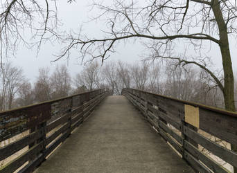 Foggy Bridge Stock by redwolf518stock