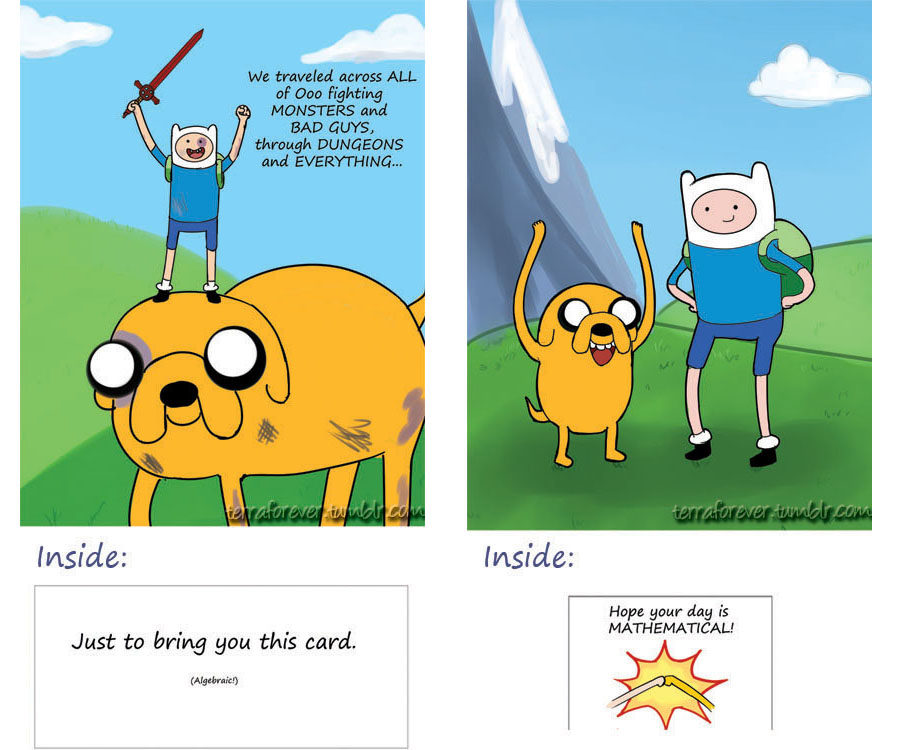 Adventure Time - Finn and Jake Card - Mathematical by ...