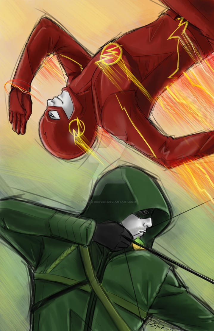 Arrow and Flash by TerraForever