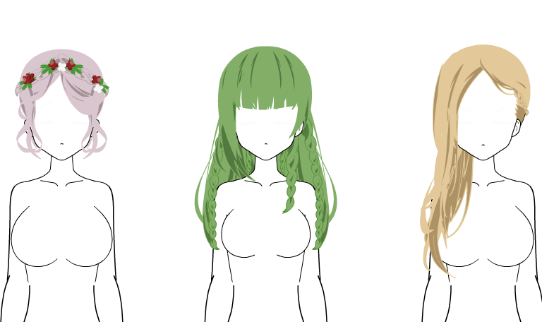 Hair Amour Sucree - Kisekae Exports by SdoisChan