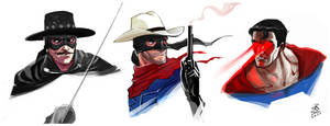 Zorro Lone Ranger Superman