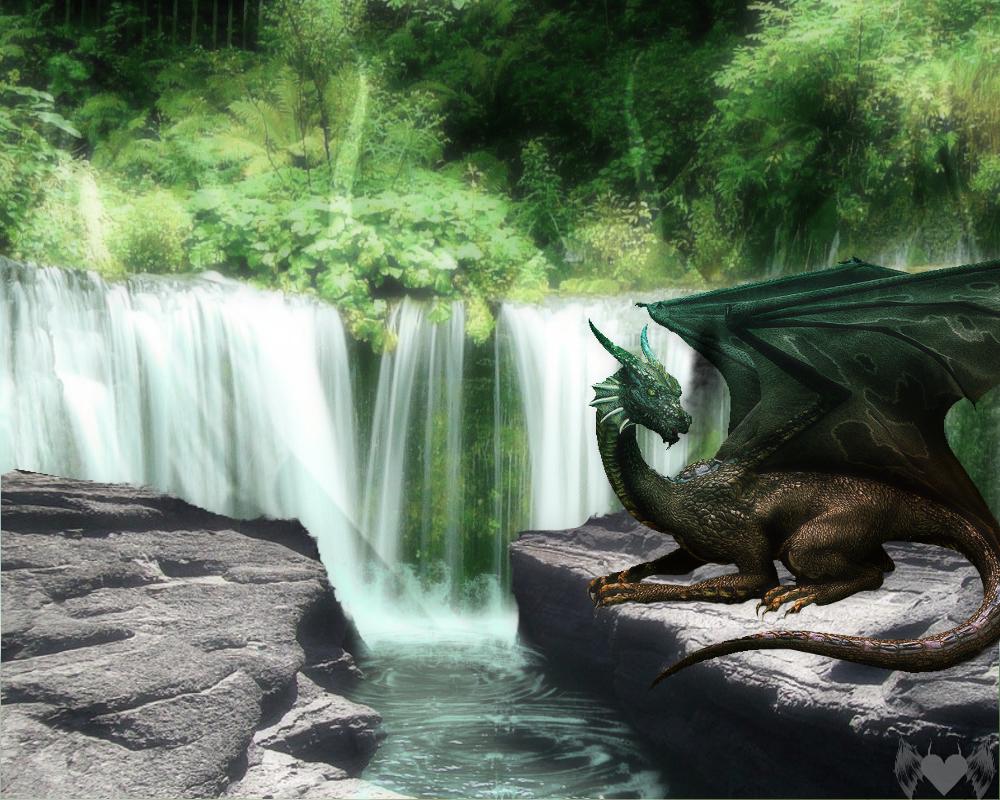 Basking Dragon by EbonyIrensis