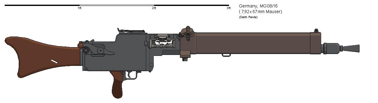 Gunbucket Maschinengewehr 08 by darthpandanl