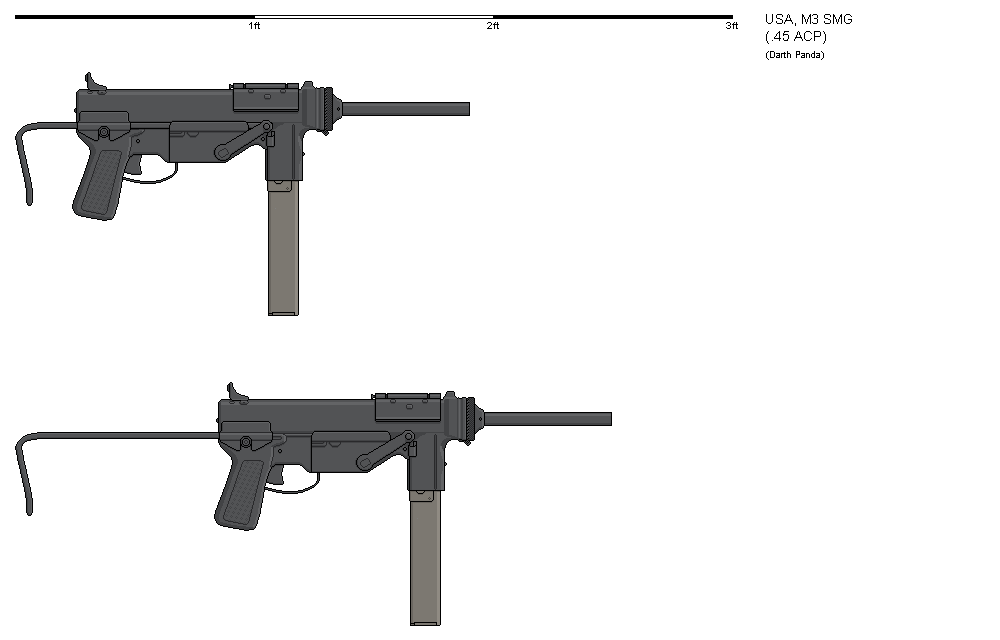 Gunbucket M3 SMG by darthpandanl