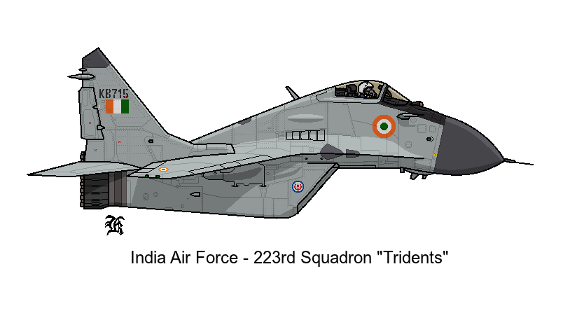 MIG-29 Indian Air Force 223rd Squadron by darthpandanl on