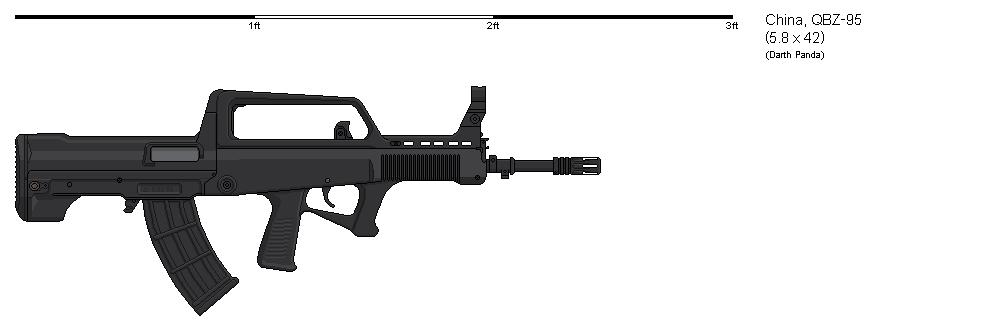 Gunbucket - QBZ95 by darthpandanl