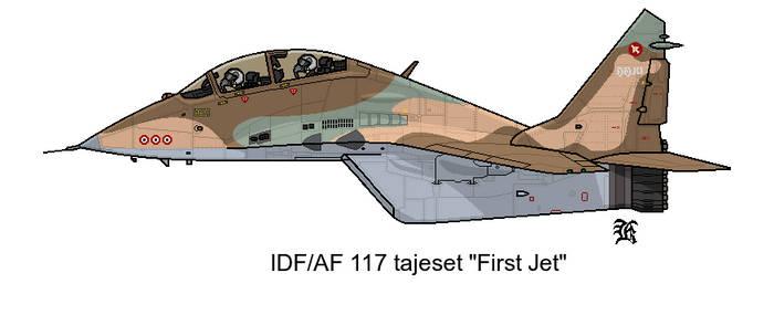 AU MIG-29 IDF 117 Squadron by darthpandanl