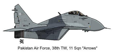 AU MIG-29 PAF 11 Squadron by darthpandanl