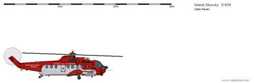 Sikorsky S-61N Irish Coast Guard by darthpandanl