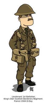 British Army Lieutenant 1944