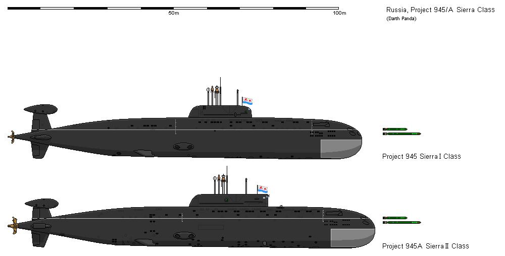 атомная подводная ладья проекта 945 морская щука  sierra class