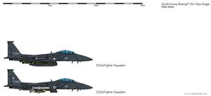Boeing F-15K Slam Eagle by darthpandanl