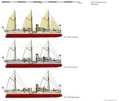 Yorktown Class Gunboats by darthpandanl