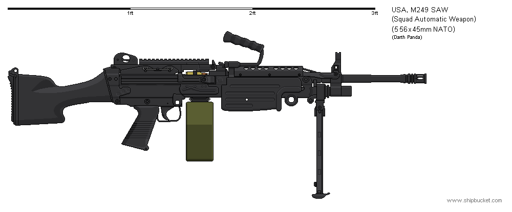 Gunbucket - M249 SAW b...