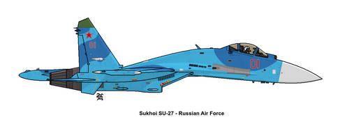 Sukhoi SU-27 - Russian Air Force by darthpandanl
