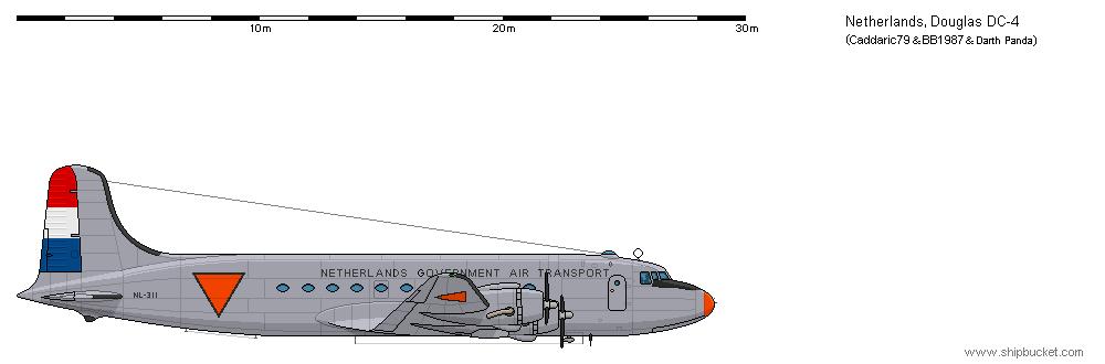 Douglas DC-4 - NL by darthpandanl