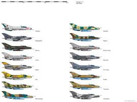 Chengdu J-7 Operators by darthpandanl