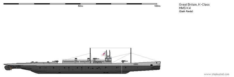 British Submarine K-Class HMS K4
