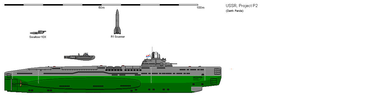Soviet Project P2 Super Submarine