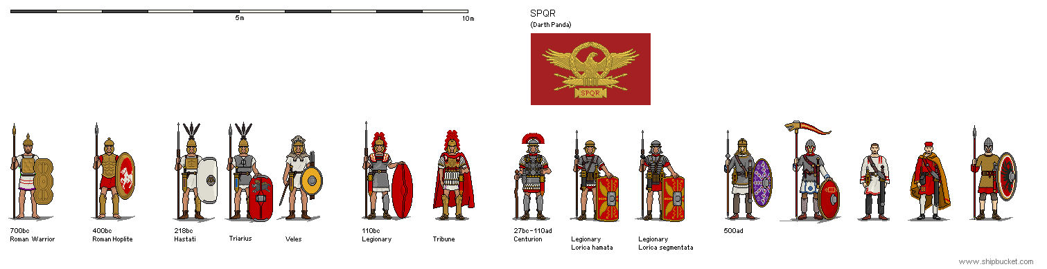 Soldierbucket - SPQR
