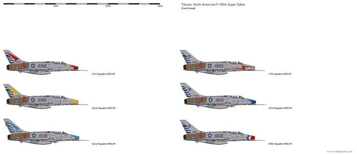 North American F-100 Super Sabre - Taiwan
