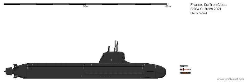 Q284 Suffren Nuclear Submarine