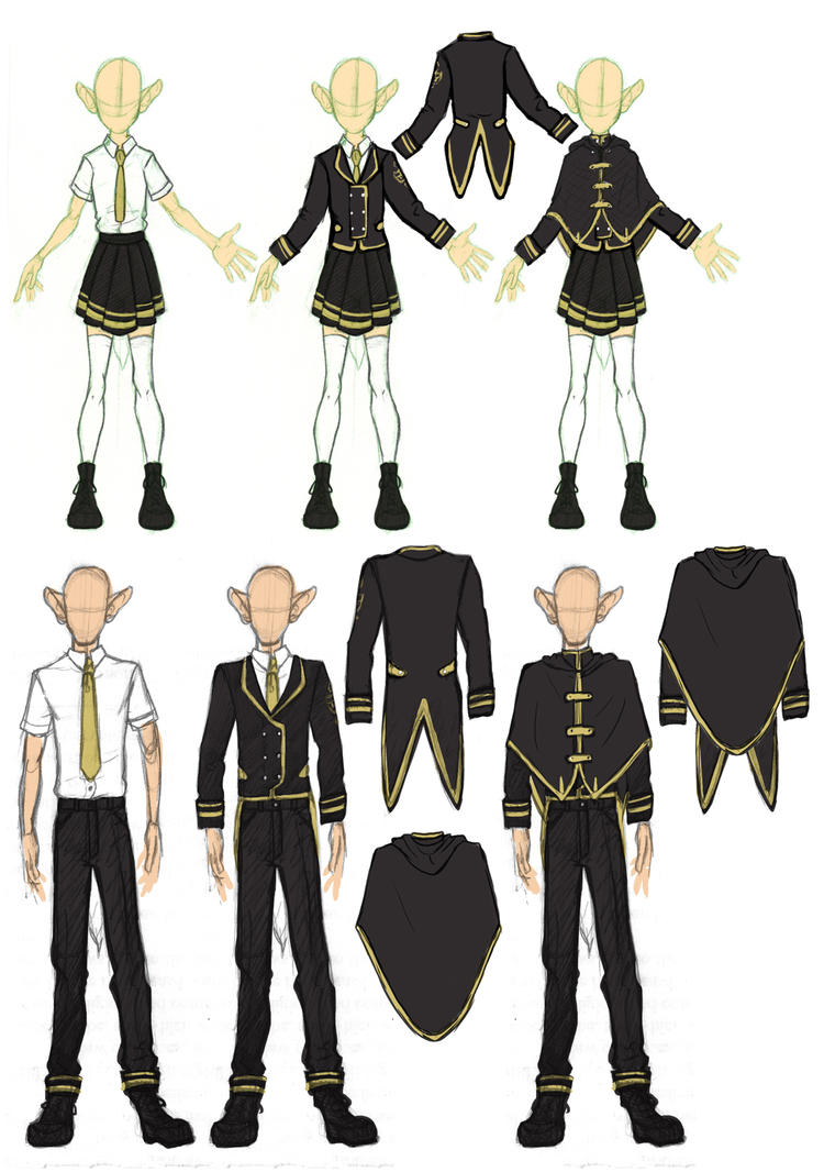 Oc school uniform design by jadisart on deviantart for School blueprint maker