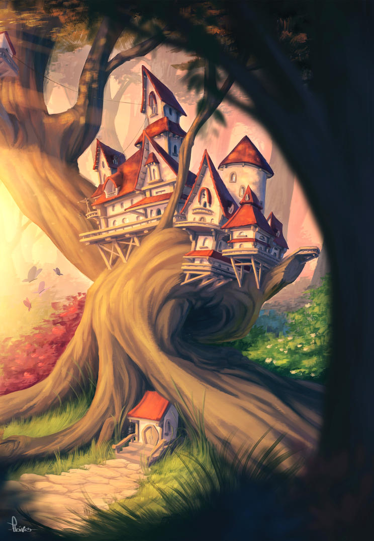 Treehouse by FlavioIlustra