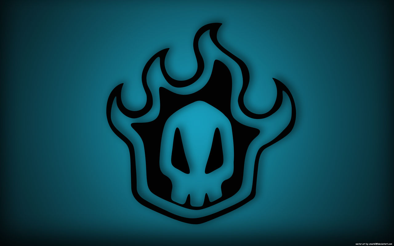 Bleach skull blue