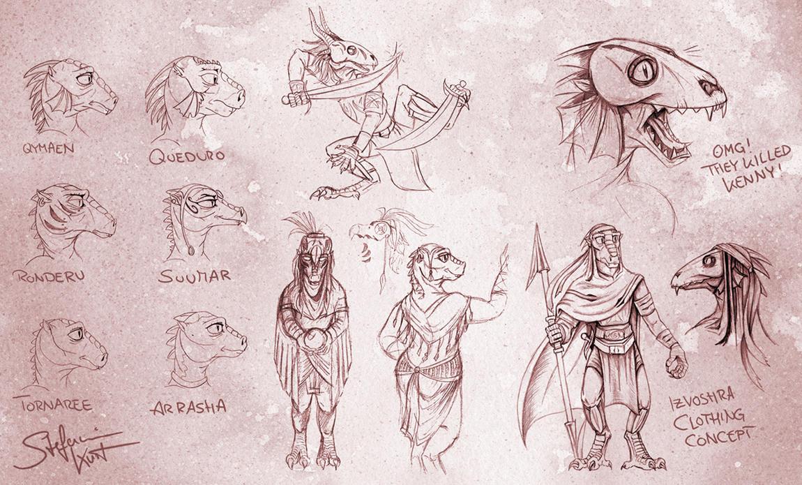 Kaleesh Sketchdump by Draco-Stellaris