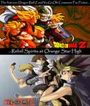 Yu-Gi-Oh! and Dragon Ball Z Crossover Promo Art