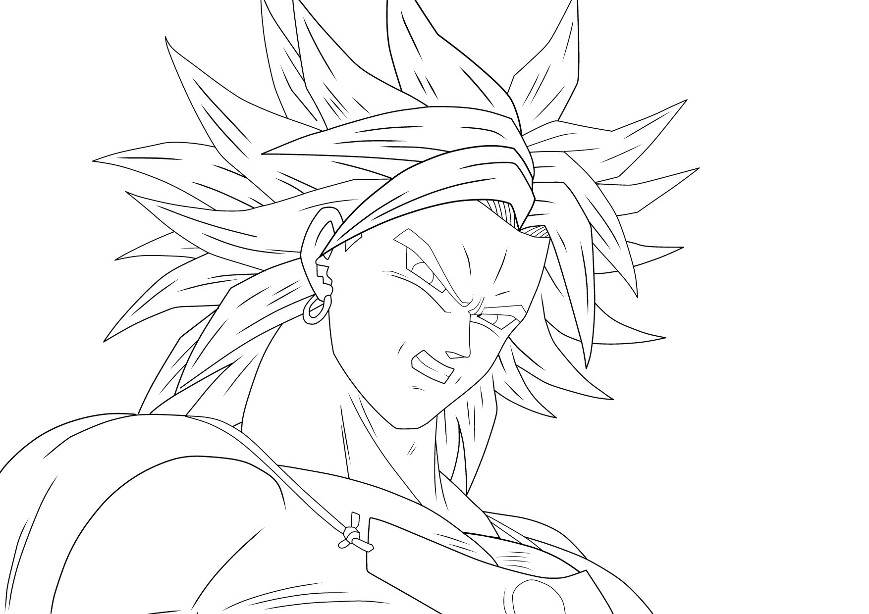 ssj broly line art by artworx88 on deviantart