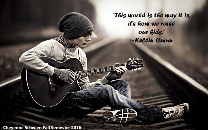 Kellin Quinn Quote Boy Guitar by Cheyenne Schwien by ...