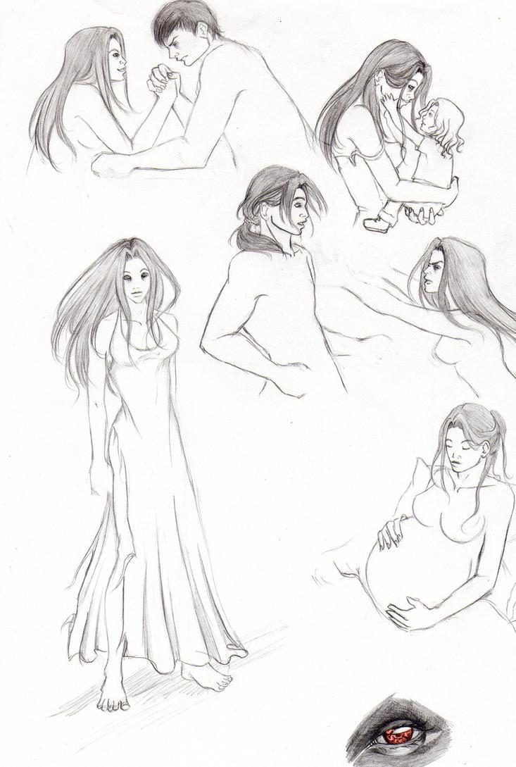 Breaking Dawn Sketches 03 by Aaraujo
