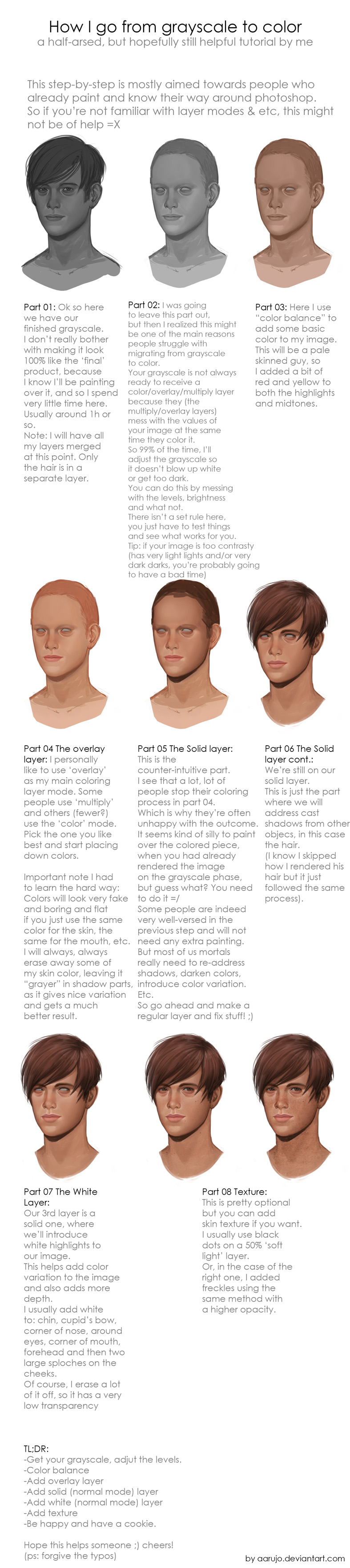 Tutorial - Coloring grayscale images by Aaraujo on DeviantArt