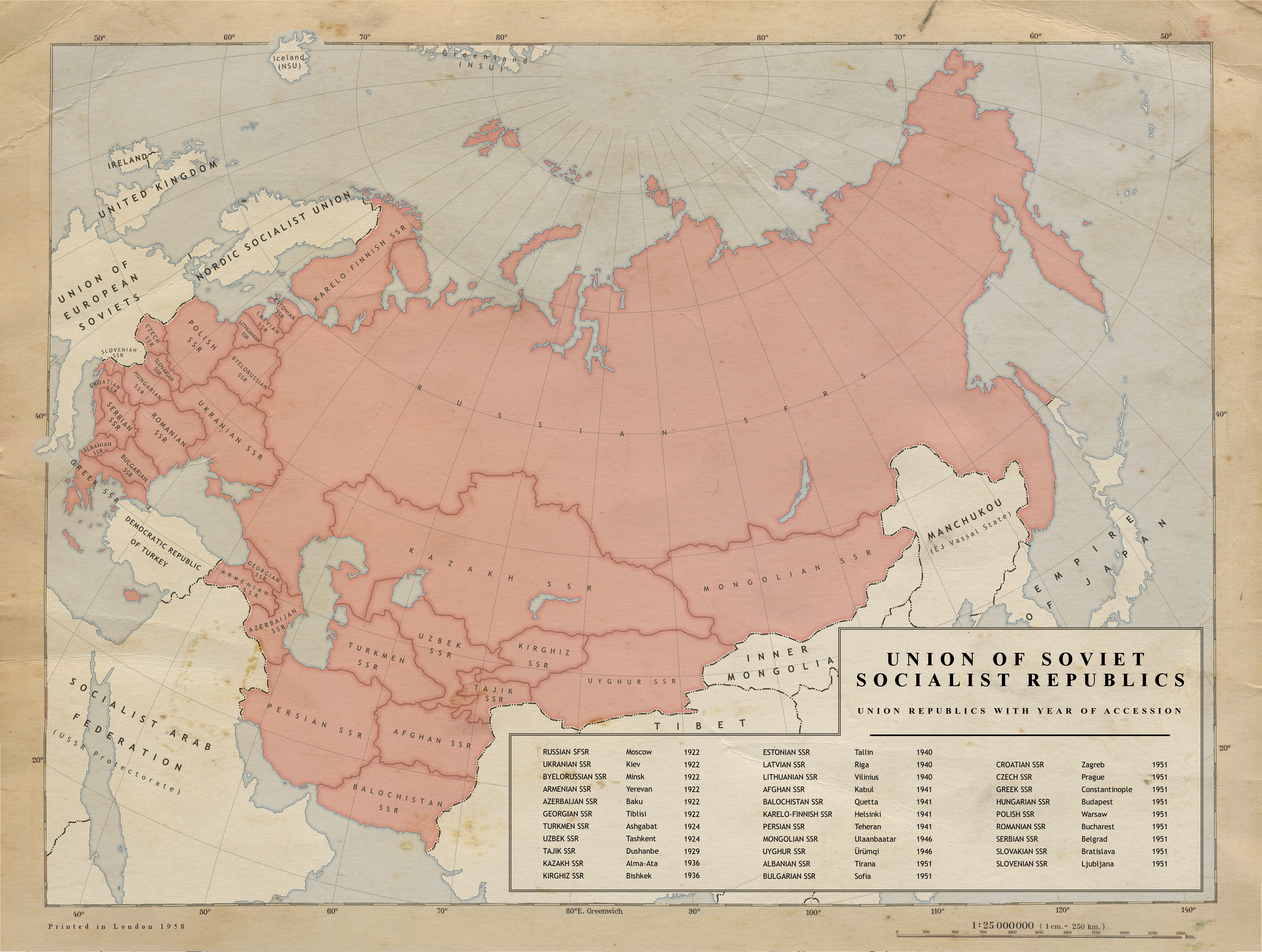 1. USSR Union Republics 1958 by Kuusinen