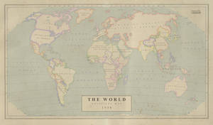The World in 1958 -  Political Map