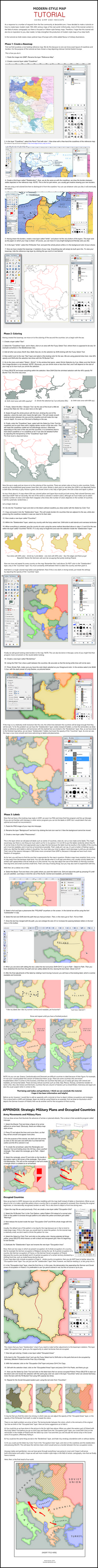 TUTORIAL on Modern-Style Maps by Kuusinen