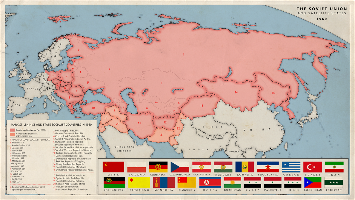 Alternative Cold War Soviet Empire By Kuusinen On DeviantArt - Alternate history us map