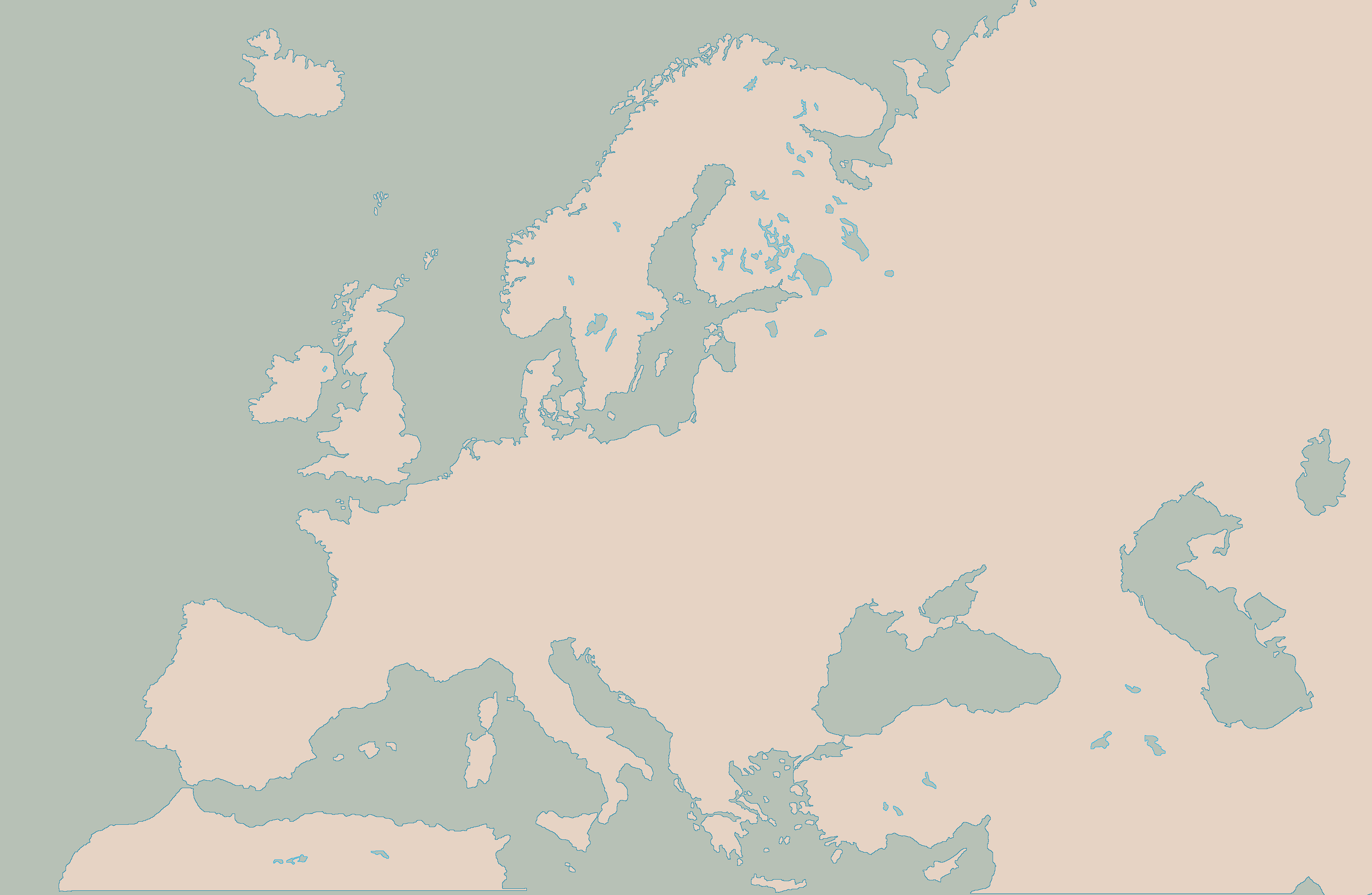 Blank Map of Europe clean by Kuusinen on DeviantArt